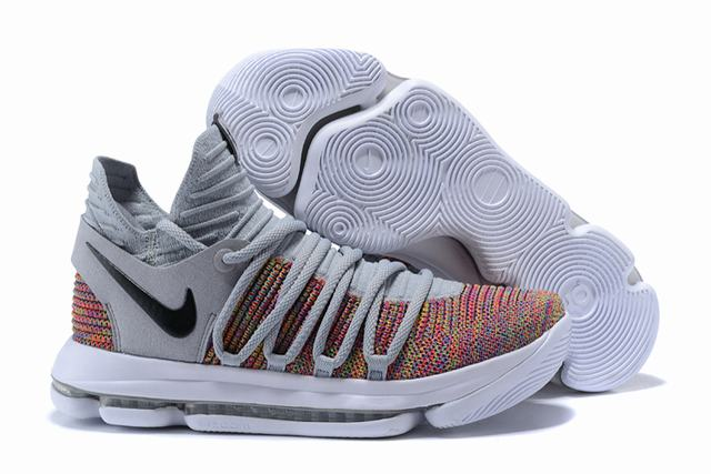 Nike KD 10 Shoes Cool Grey Colors Black