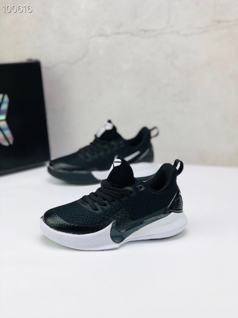 Nike Kobe Mamba Focus 5 Kid Shoes Black White