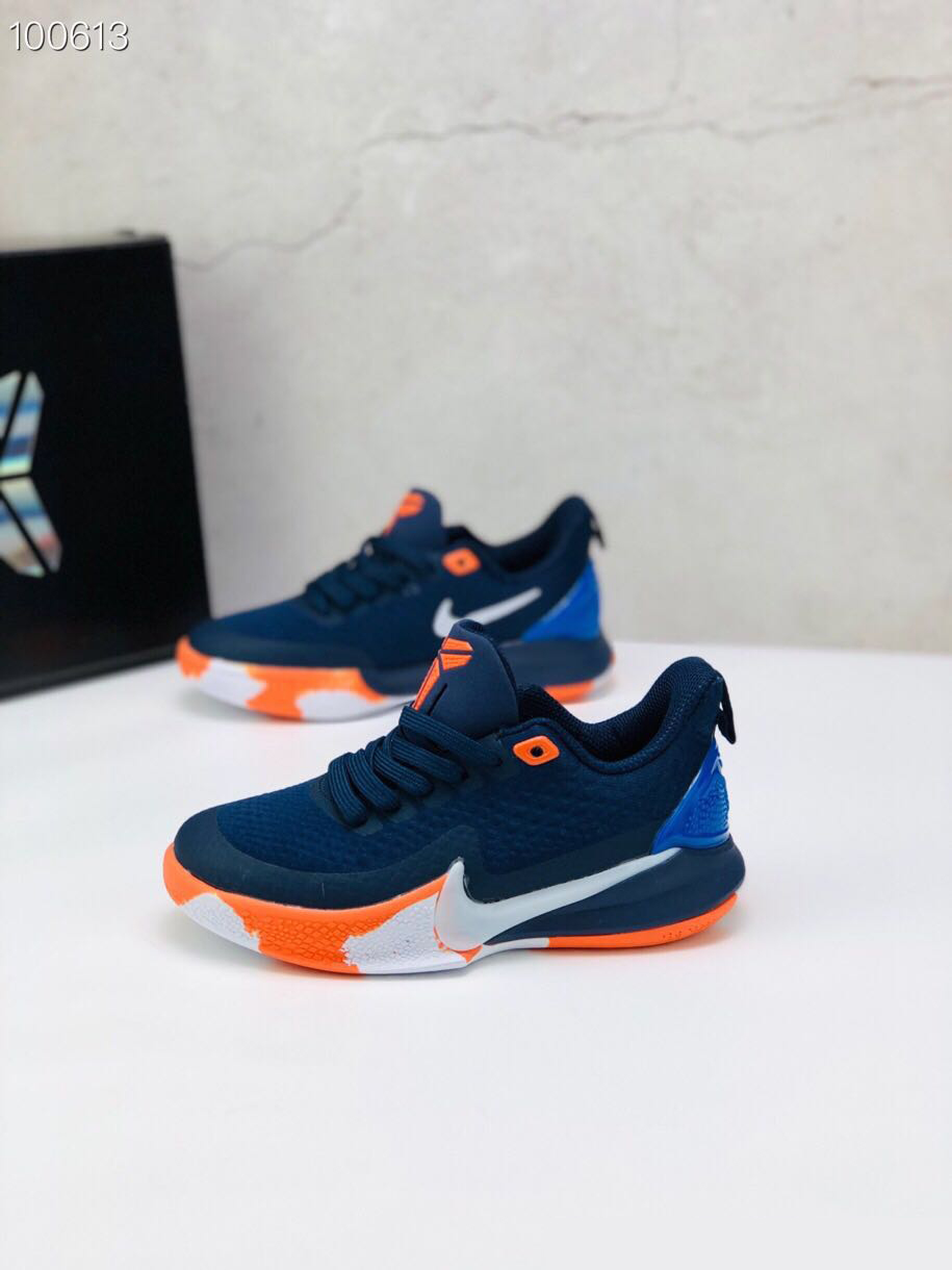 Nike Kobe Mamba Focus 5 Kid Shoes Dark Blue White