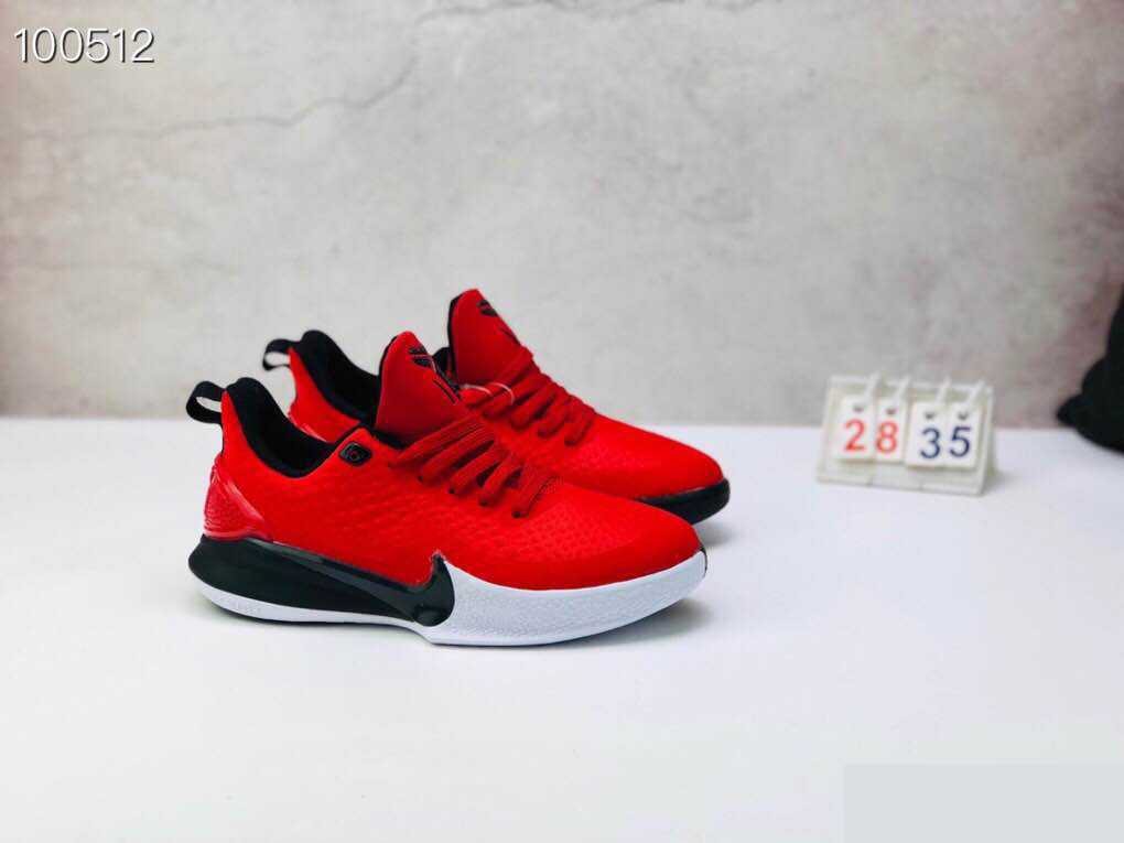 Nike Kobe Mamba Focus 5 Kid Shoes Red White