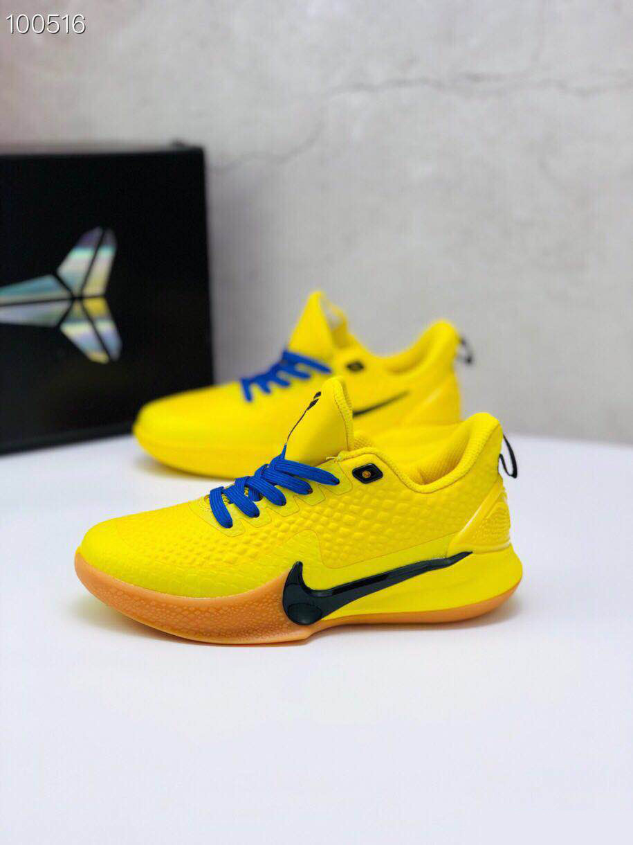 Nike Kobe Mamba Focus 5 Kid Shoes Yellow Blue