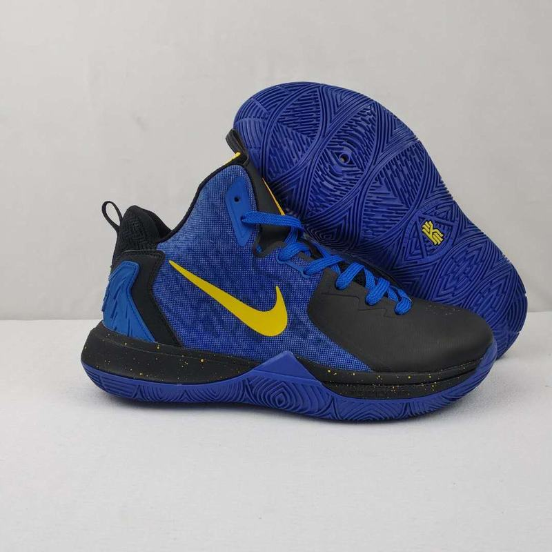 Nike Kyire 5 Black Blue Yellow-logog