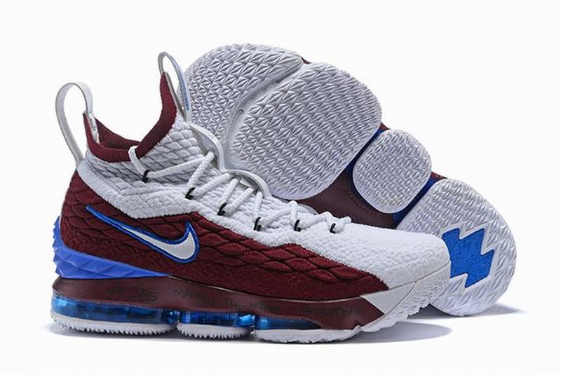 Nike Lebron James 15 Air Cushion Shoes ACG Blendent Wine Red White Blue