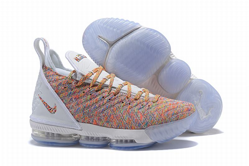 Nike Lebron James 16 Air Cushion Shoes White Rainbow