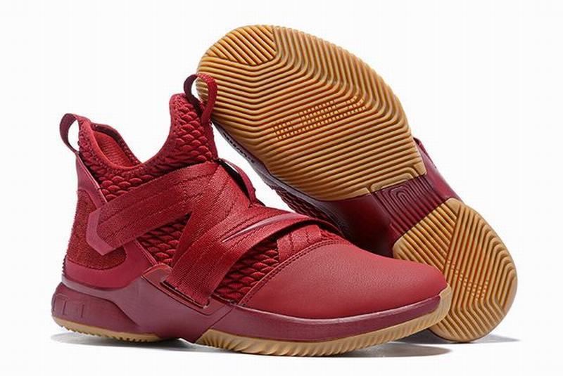 Nike Lebron James Soldier 12 Shoes All Wine Red