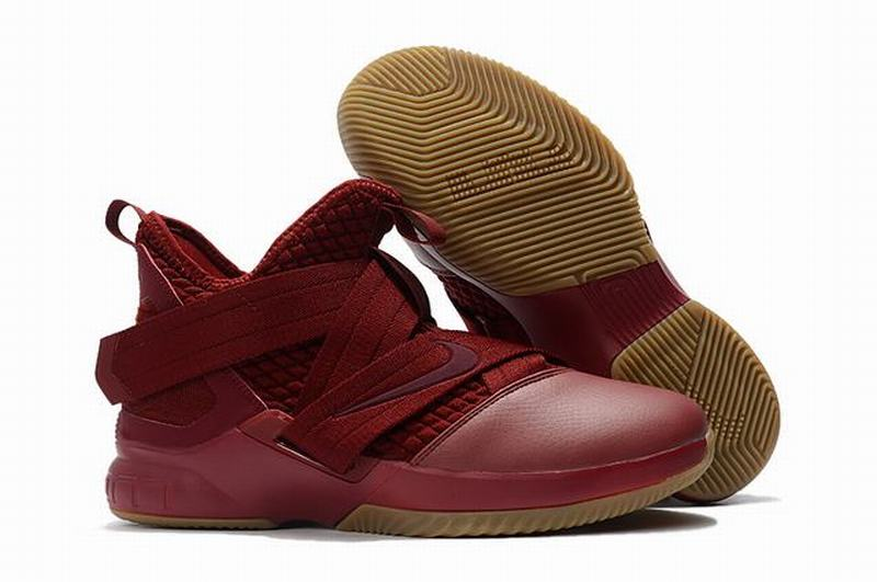 Nike Lebron James Soldier 12 Shoes Knight Wine Red