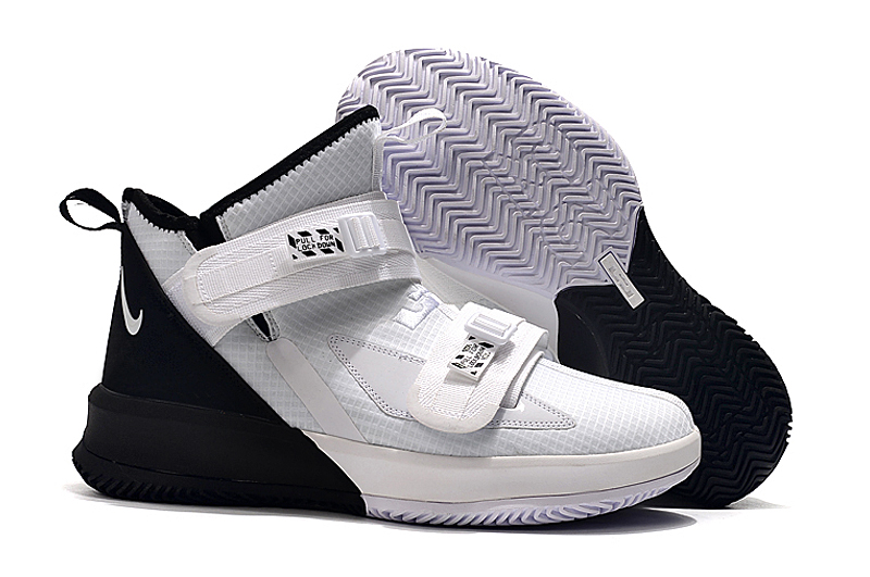 Nike Lebron James Soldier 13 Women Shoes White Black