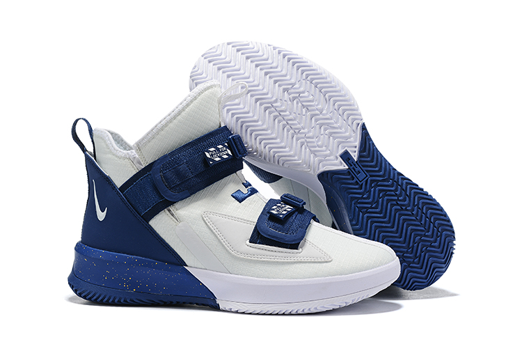 Nike Lebron James Soldier 13 Women Shoes White Navy