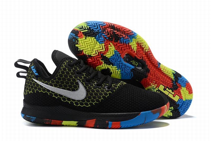 Nike Lebron James Witness 3 Shoes Black Colorful