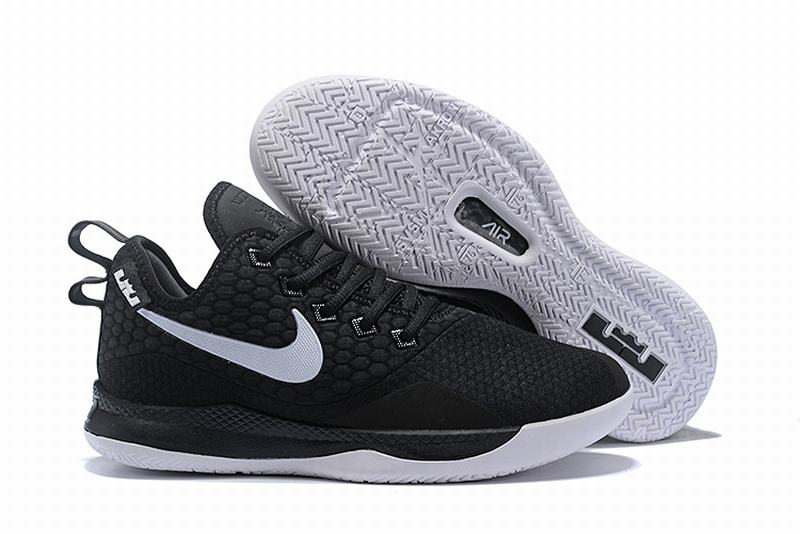Nike Lebron James Witness 3 Shoes Black White