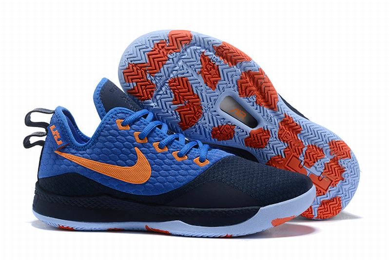 Nike Lebron James Witness 3 Shoes Blue Orange