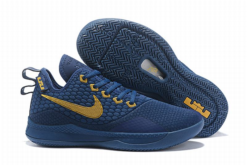 Nike Lebron James Witness 3 Shoes Navy Gold
