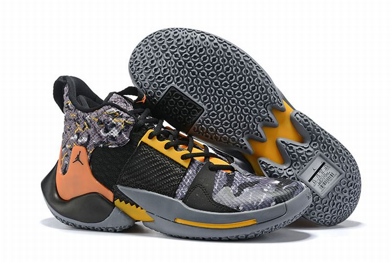 Westbrook 2 Shoes Grey Orange Yellow