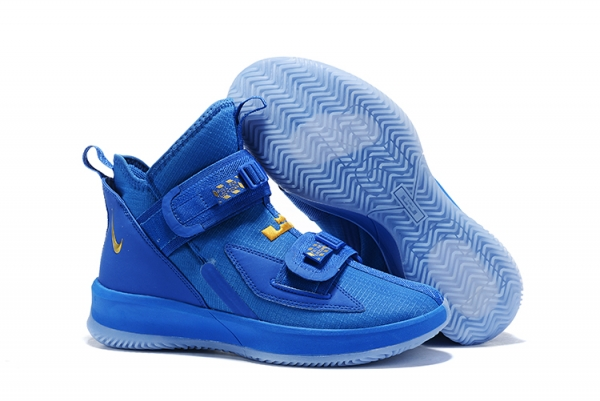 Nike Lebron James Soldier 13 Women Shoes Sapphire Gold