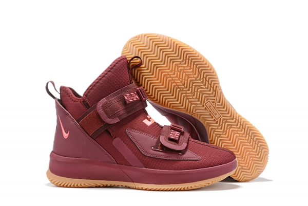 Nike Lebron James Soldier 13 Women Shoes Wine Red