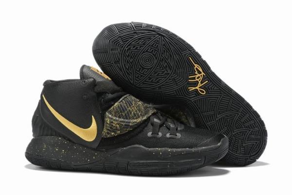 Nike Kyrie 6 Men Shoes Black Gold